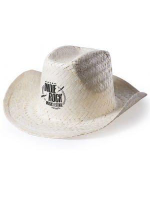 Sombreros palviz de paja con logo vista 1