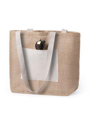 Bolsos playa farus de yute ecológico con logo imagen 1