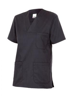 Casacas sanitarias velilla camisola pijama manga corta de algodon con logotipo imagen 1