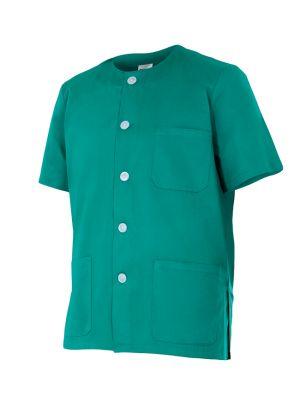Casacas sanitarias velilla pijama manga corta de algodon vista 1