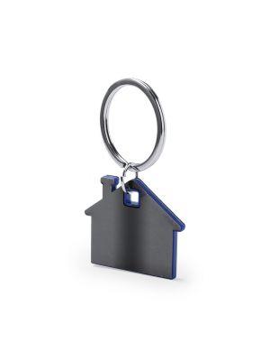 Llaveros forma casa zosin de metal con logo imagen 1