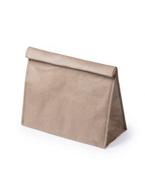 Bolsas de papel laral de papel con publicidad vista 1