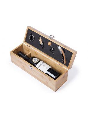 Sets de vino boriax de bambú ecológico con logo imagen 2