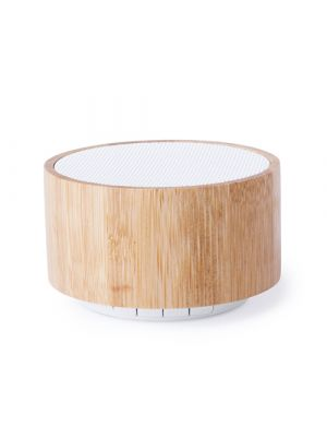 Altavoces denzel de bambú ecológico con logo imagen 2