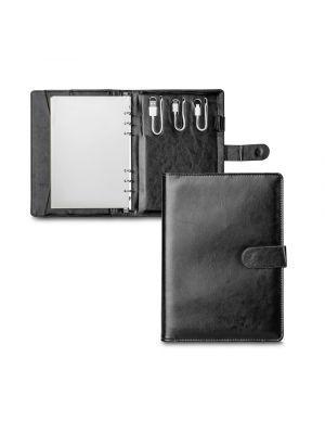 Griet. portafolios a5 de polipiel con logo vista 3