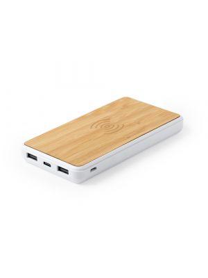Baterias power bank dickens power de bambú ecológico con impresión vista 1