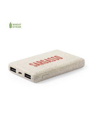 Baterias power bank shiden de caña de trigo ecológico con impresión vista 2