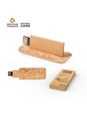 Memorias usb personalizadas nosux 16gb de cartón ecológico imagen 2