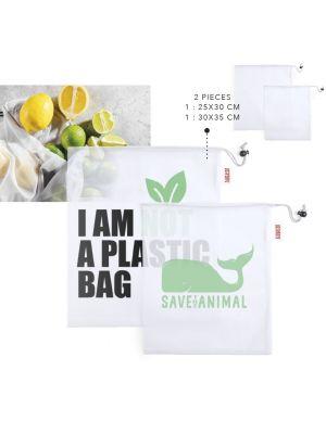 Bolsas compra kortal de poliéster ecológico con impresión vista 2