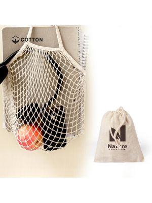 Bolsas plegables nacry de 100% algodón ecológico con publicidad vista 2