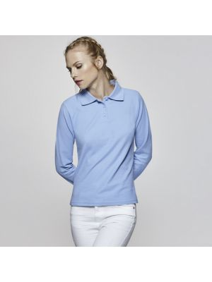 Polos manga larga roly estrella ls mujer de 100% algodón con publicidad imagen 1