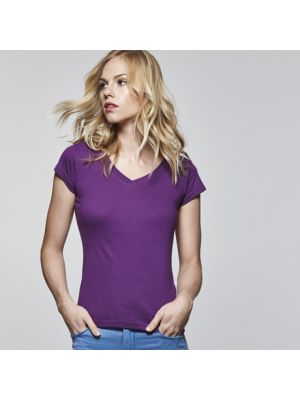 Camisetas manga corta roly victoria mujer de 100% algodón con impresión imagen 1