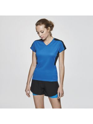 Camisetas técnicas roly suzuka mujer de poliéster con logo vista 1