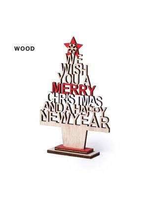 Navidad árbol navidad sokin de madera para personalizar vista 2