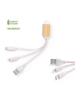 Cables cargador korux de caña de trigo para personalizar vista 3