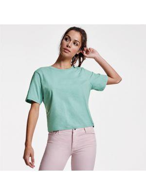 Camisetas manga corta roly dominica mujer de 100% algodón con logo vista 1