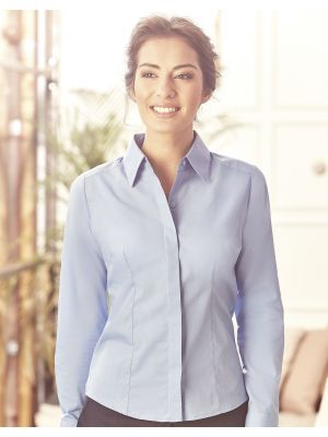 Camisas manga larga russell popelina manga larga mujer con publicidad vista 6