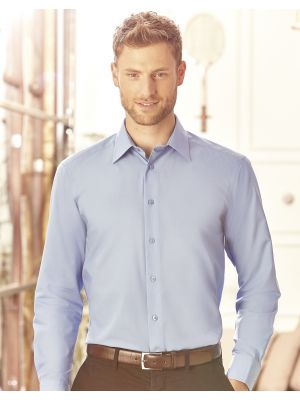 Camisas manga larga russell popelina manga larga hombre para personalizar imagen 4