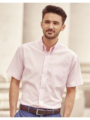 Camisas manga corta russell oxford manga corta hombre cuello con botones con impresión vista 2