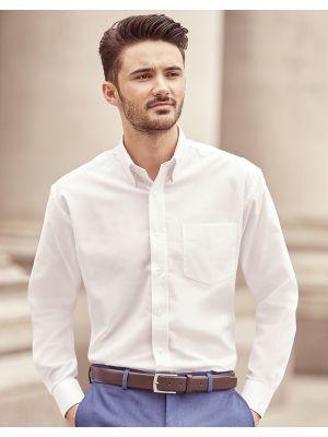 Camisas manga larga russell oxford manga larga hombre para personalizar imagen 1