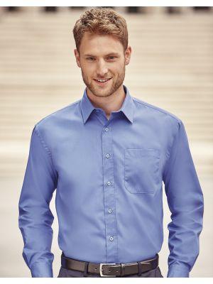 Camisas manga larga russell popelin manga larga hombre para personalizar vista 1