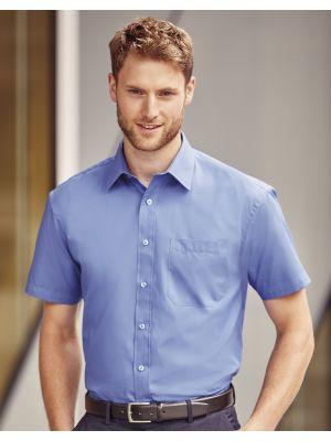 Camisas manga corta russell popelin manga corta hombre con bolsillo con impresión vista 1