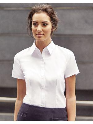 Camisas manga corta russell en espiguilla manga corta mujer para personalizar imagen 1