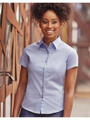Camisas manga corta russell clásica sarga manga corta mujer para personalizar vista 2