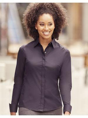 Camisas manga larga russell ajustada manga larga ultimate mujer con impresión vista 6