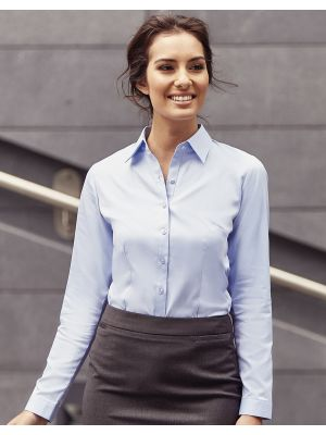 Camisas manga larga russell en espiguilla manga larga mujer vista 5