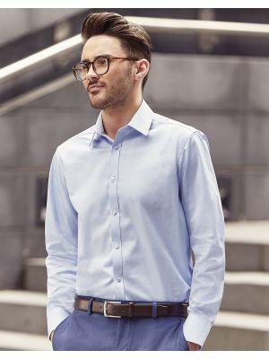 Camisas manga larga russell en espiguilla manga larga hombre para personalizar imagen 5