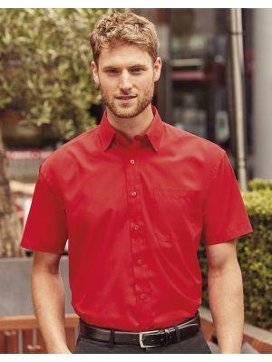 Camisas manga corta russell de hombre de popelín manga corta para personalizar vista 2