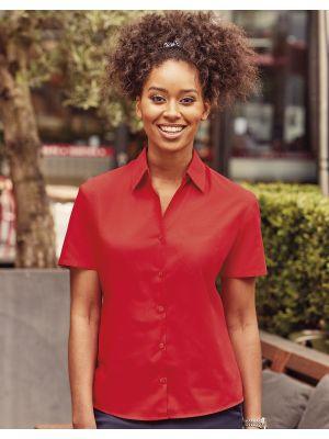 Camisas manga corta russell popelin manga corta de mujer con publicidad vista 3