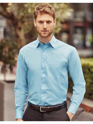 Camisas manga larga russell de hombre popelin manga larga para personalizar imagen 4