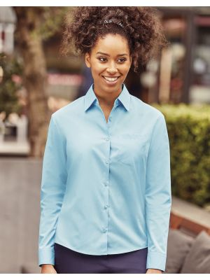 Camisas manga larga russell popelin manga larga de mujer con logo vista 7