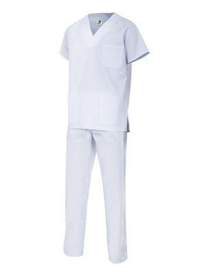Casacas sanitarias velilla conjunto pijama de algodon con logo imagen 1