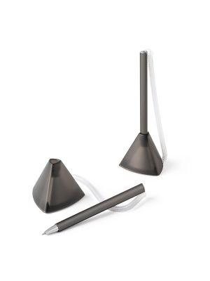 Bolígrafos originales stand de plástico con logo imagen 1