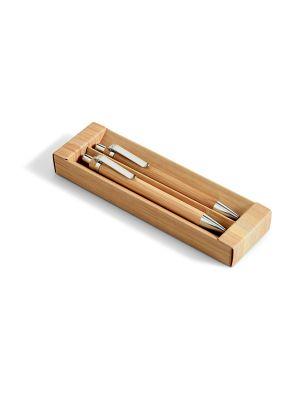 Set escritura greeny de bambú ecológico con publicidad imagen 1