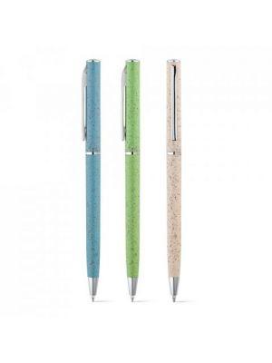 Bolígrafos originales devin de paja ecológico para personalizar imagen 2