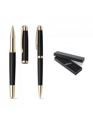 Bolígrafos roller ezekiel set de metal con logo imagen 6