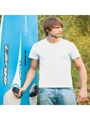 Camisetas manga corta keya mc180 oew de 100% algodón vista 1