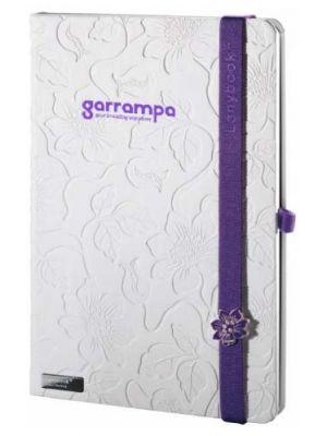 Libretas con banda elastica lanybook innocent passion white con logo vista 3