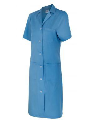 Batas médicas velilla mujer manga corta 907 de algodon con impresión vista 1