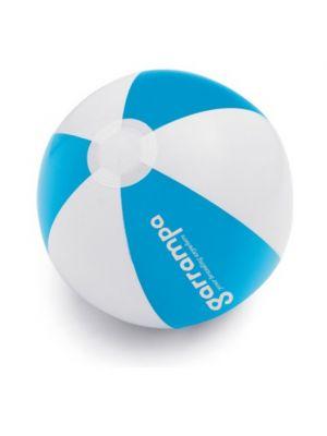 Balones de playa cruise de plástico con publicidad vista 1