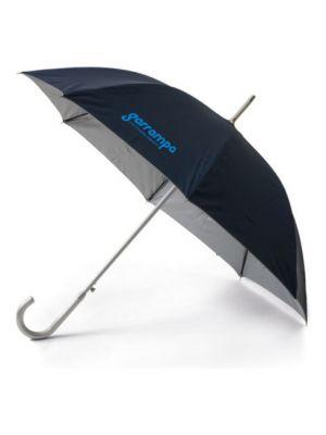 Paraguas clásicos karen de poliéster con publicidad vista 1