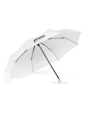 Paraguas plegables maria de poliéster con logo vista 1