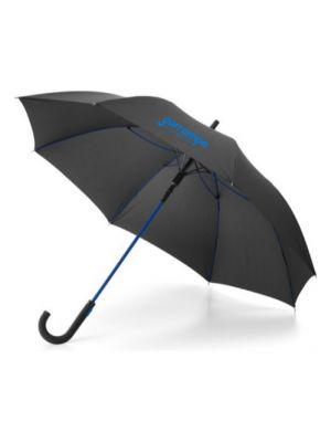 Paraguas clásicos alberta de plástico con logo vista 1