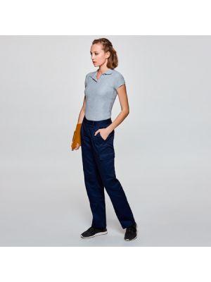 Pantalones de trabajo roly daily mujer de poliéster con logotipo imagen 1