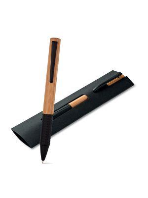 Bolígrafos de lujo bach de bambú ecológico con publicidad vista 1