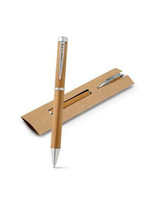 Bolígrafos básicos lake de bambú ecológico con publicidad imagen 2